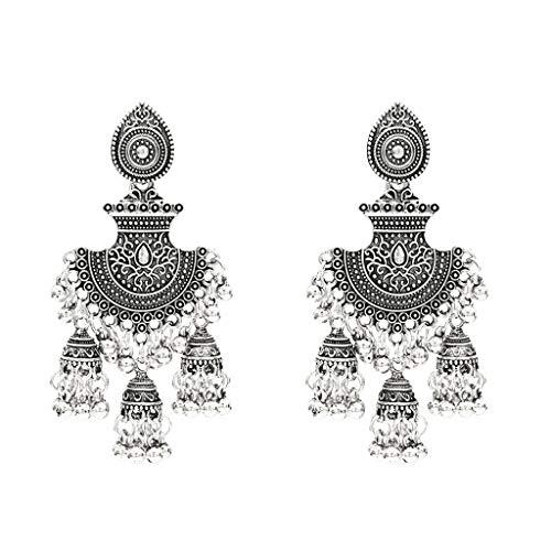 njuyd Fashion Trend Earrings Retro Egypt Bells Tassel Jhumka Drop Earrings Fashion Women Indian Gypsy Jewelry