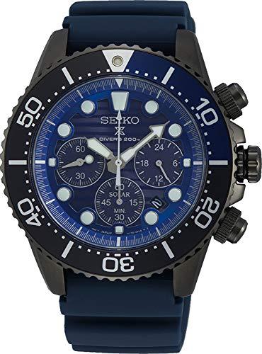 SEIKO Herren Analog Solar Uhr mit Silikon Armband SSC701P1
