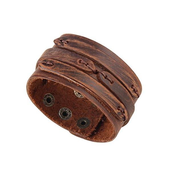 GelConnie Adjustable Braided Leather Bracelet 2