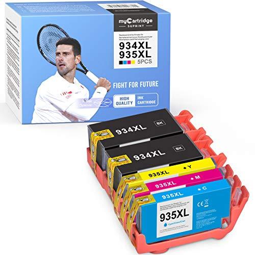 myCartridge SUPRINT 934XL 935XL - Cartuchos de tinta de repuesto para HP 934XL 935XL 934 XL 935 XL compatibles con HP Officejet Pro 6230 6220 6812 6815 6820 6830 6835 (negro, cian, magenta y amarillo)