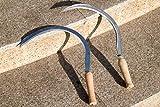 AGROHIT Handsichel Holzgriff Rundsiche Sichel lSensensichel Gebogen Sense 36 cm -