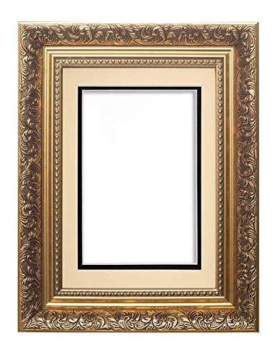 Memory Box Cadre Photo à Double Passe-Partout Style Ancien pour Photos A4 29,7 x 42 cm