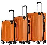 BEIBYE Zwillingsrollen Hardcase Reisekoffer Koffer Trolleys Hartschale in XL-L-M in