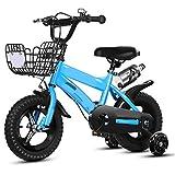 TXTC Bicicleta Infantil con Ledportabotellas, Rueda De La Bicicleta Cruiser De Flash con, Bicicletas Niños,Formación Ruedas De La Bici Durante 3-9 Años Niños Y Niñas De Bici