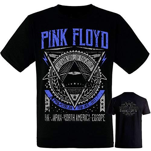 Pink Floyd- Dark Side of The Moon- Camiseta Negra Hombre Manga Corta - Tshirt (XL)