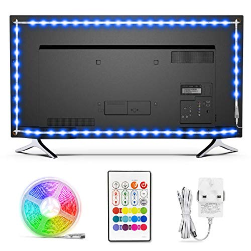 TV LED Backlights, Bason 5050 RGB Led Strip Light for 85-90 inch, Upgraded TV Bias Lighting with...
