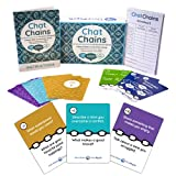 Chat Chains: Social Emotional Learning & Social Skills Games for Kids Ages 8+, Family Games & Therapy Games for Counselors - 150 Conversation Starters for Emotional Awareness and Mindfulness