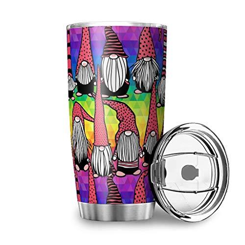 Twelve constellations Taza de viaje de acero inoxidable con diseño de gorro de Navidad de doble pared resistente al teñido al vacío, taza de viaje con tapa, color blanco, 600 ml