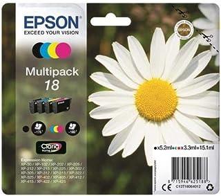 Epson 18 Serie Margherita C13T18064012, Cartuccia Originale, Standard, Multipack, 4 Colori, con Amazon Dash Replenishment ...