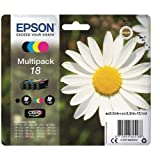 Epson C13T18064012 - Cartucho de tinta original para Epson XP-30 (4 unidades), multicolor, Ya disponible en Amazon Dash Replenishment