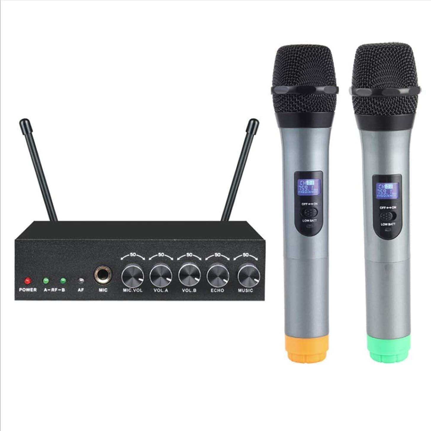 KOQIO Wireless Microphone Karaoke,2 Handheld Karaoke Player Speaker LCD Display Portable for TV, Computer, and Mobile Phone, Home KTV Outdoor Party Wedding