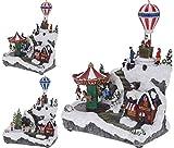 Escena navideña con movimiento, sonido y luz, 24,5 x 11,7 x 29,5 cm, diseño variado