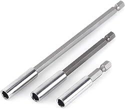 3pcs Soporte de Destornillador Magnético Adaptador de Taladro Hexagonal Barra de Conexión de Extensión para Tornillos, Tuercas, Taladro 60/100/150mm