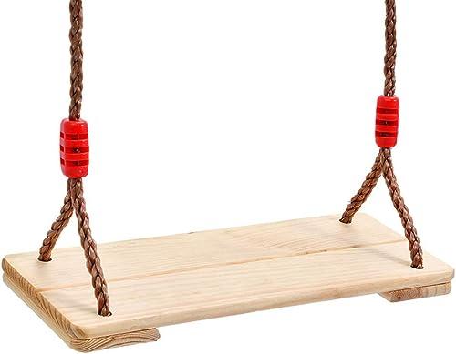 Anti-korrosion Holz Schaukel Outdoor Hanfseil Stuhl Erwachsene Einfache Schaukel Massivholz Board Schaukel Familie Kindergarten