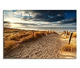 120x80cm Leinwandbild auf Keilrahmen Holland Nordsee Meer