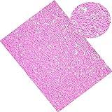 20CM*34CM Glitter Vinile Sintetico Pelle Tessuto per Fiocchi Decorazione Artigianato Materiali Borsa Scarpe Accessori S18015 4 rose.