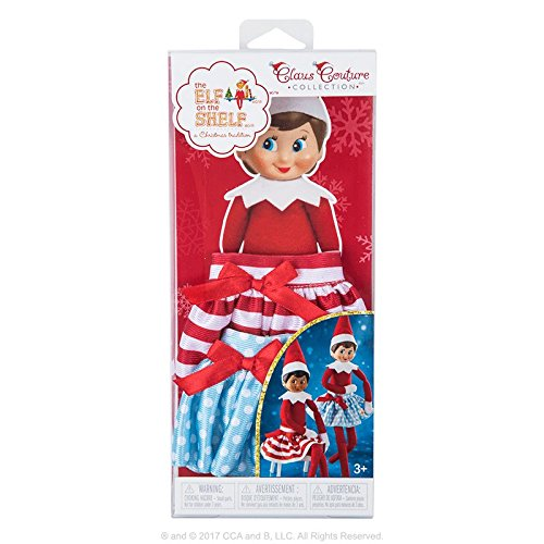 Elf on The Shelf Twirling in the Snow Skirts