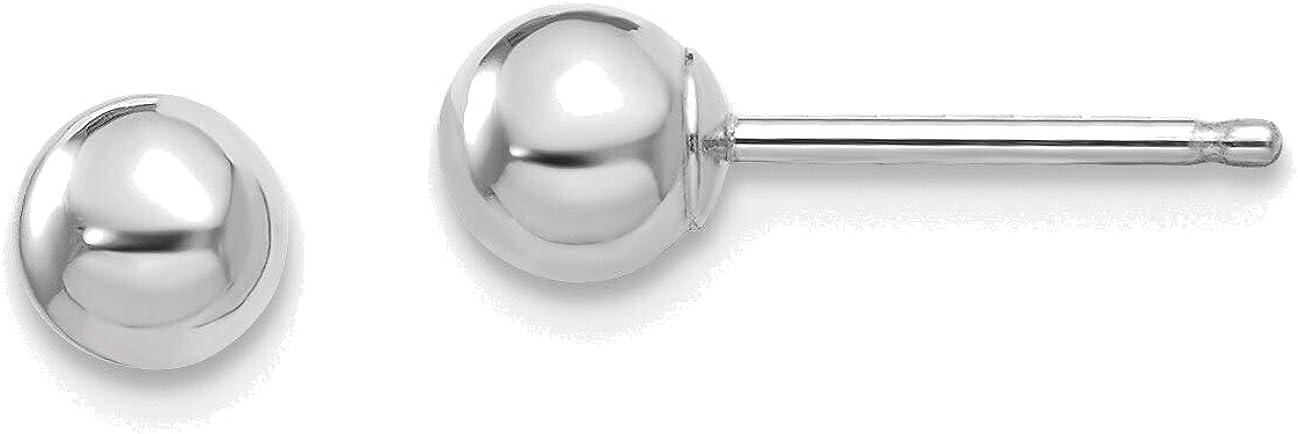 14kt White Gold Madi K Polished 4mm Ball Post Earrings