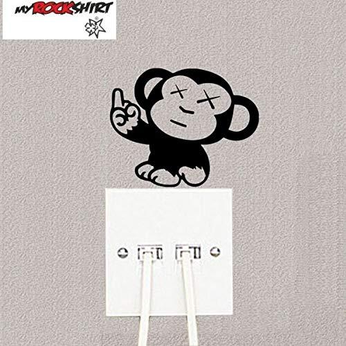 myrockshirt Steckdosenaufkleber/Lichtschalter AFFE Mittelfinger ca.10cm Aufkleber,Sticker,Decal,Autoaufkleber,UV&Waschanlagenfest,Profi-Qualität,Wandtattoo
