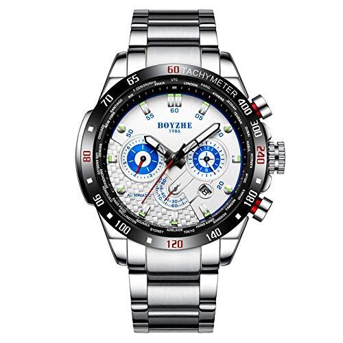 Reloj de Pulsera Minimalista para Hombre, Reloj automático, Movimiento mecánico, Reloj -A