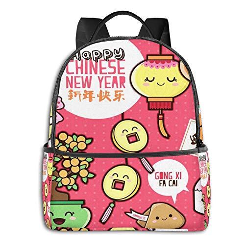 Rucksack Freizeit Damen Herren, Orange Keks Neujahr Campus Kinderrucksack, Daypack Schulrucksack Sportrucksack Tablet Tasche 15,6 Zoll