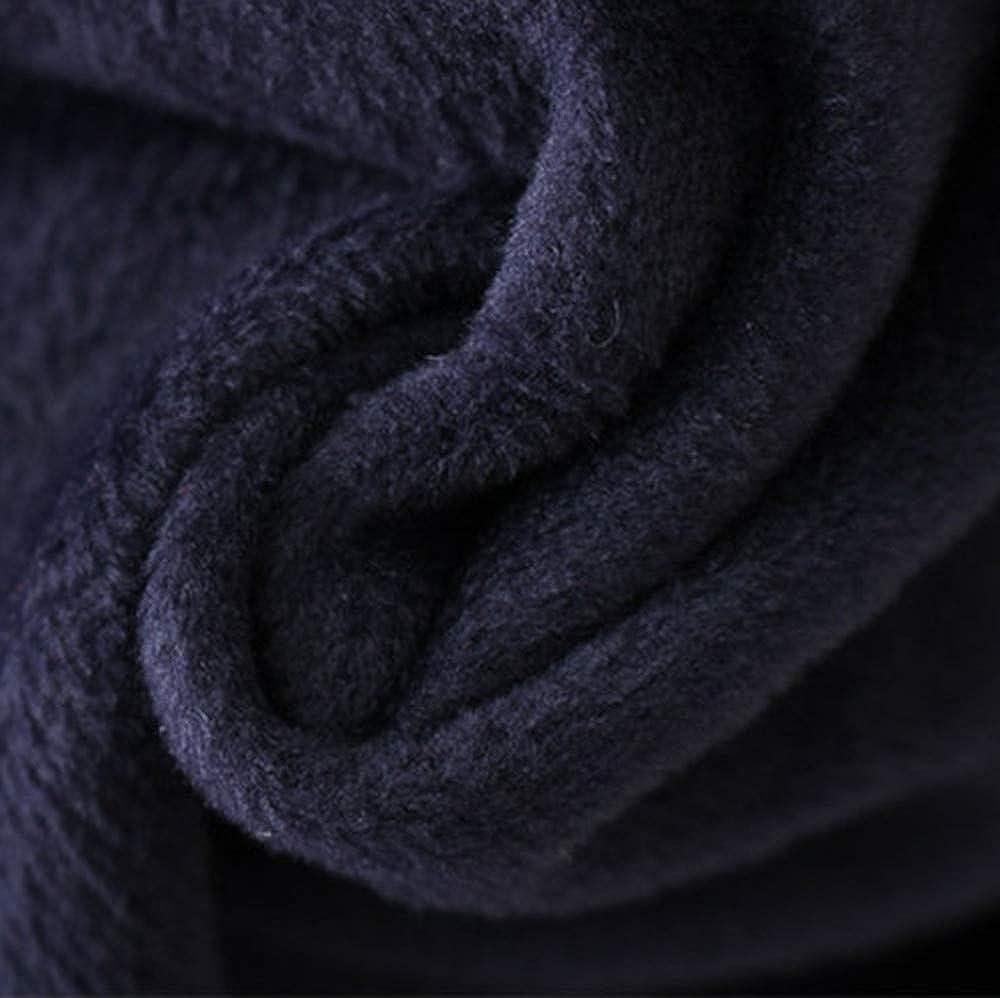Fanxing Damen Wintermantel Outwear Floral Print Hooded Taschen Vintage Oversize-Mäntel Marine