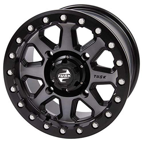 4/156 Uinta Beadlock Wheel 15x7 5.0 + 2.0 Gunmetal/Black Compatible With Polaris RANGER RZR 570 2012-2021