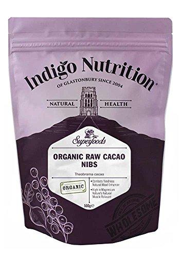Indigo Herbs Rohe Bio Kakaonibs 500g | Vegane | Rein & GMO Frei