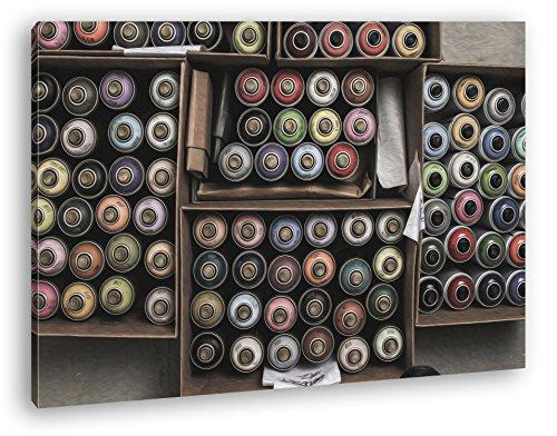 deyoli Cajas Completa Bote de Spray de Graffiti Efecto: Zeichnung como Lienzo, diseño Enmarcado en Marco de Madera, impresión Digital Marco, no es un póster o Cartel, Lona, 60x40