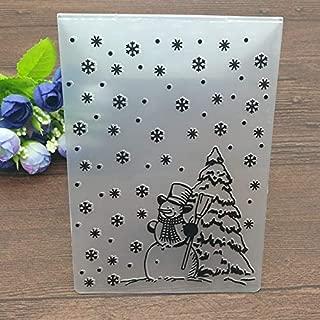 LooBooShop Christmas Embossing Folder DIY Card Papercraft Scrapbooking Decor Template Diary