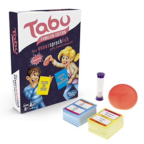 Hasbro Gaming E4941100 Tabu Familien Edition, Familienspiel