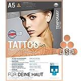 SKULLPAPER Papier transfert de tatouage temporaire pour la peau A5 -...