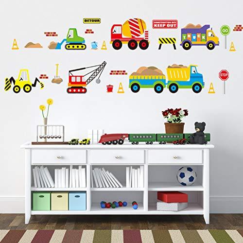 Cartoon Fahrzeug Verkehr Autos Busse Wandaufkleber Für Kinderzimmer Wohnzimmer Kindergarten Baby Kinderzimmer Home Decoration Wasserdicht