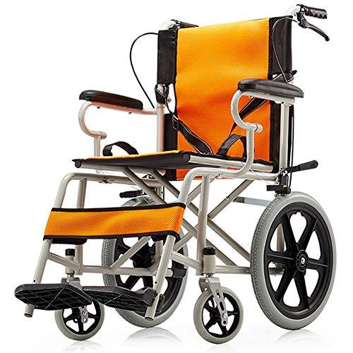 WLIXZ Tragbarer Reise-Rollstuhl für ältere Personen, mit Sicherheitsgurt und Aufbewahrungstasche, Transportrollstuhl,1