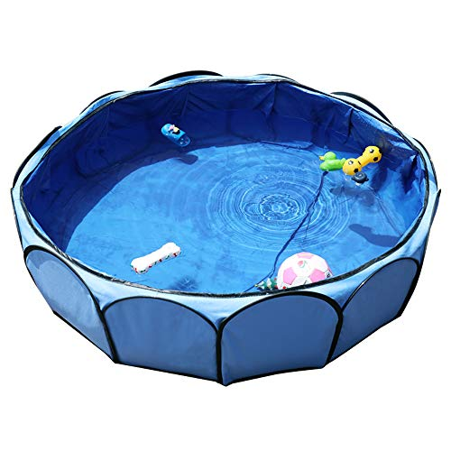 Petsfit 41'X12' Foldable and Portable Pet Non-Inflatable Swimming Pool/Ball Pit/Bathing Pool for Baby or Puppy Sky Blue