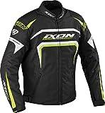 Ixon - Blouson Moto - IXON Eager Noir/Blanc/Jaune Vif - 4XL