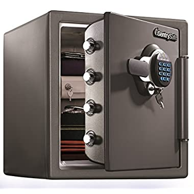 SentrySafe Fire Resistant and Water Resistant Safe, Advanced Protection for the Irreplaceable, 1.23 Cubic Feet, SFW123GDC