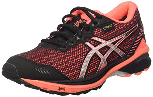 Asics Gt-1000 5 G-tx, Zapatillas de entrenamiento y correr Mujer, Negro (Black/Silver/Flash Coral), 37.5 (4.5 UK)