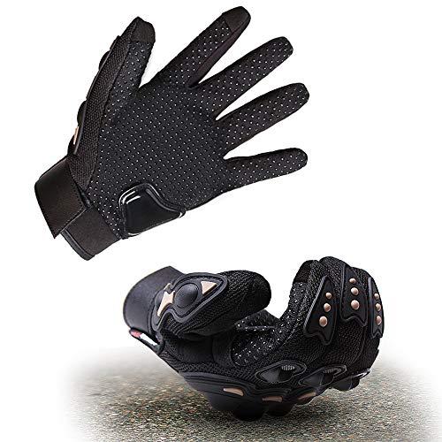 Doxhaus guanti da moto con touch screen duro Knuckle guanti da uomo per moto, ciclismo, arrampicata, DH1057009UK02DN, M