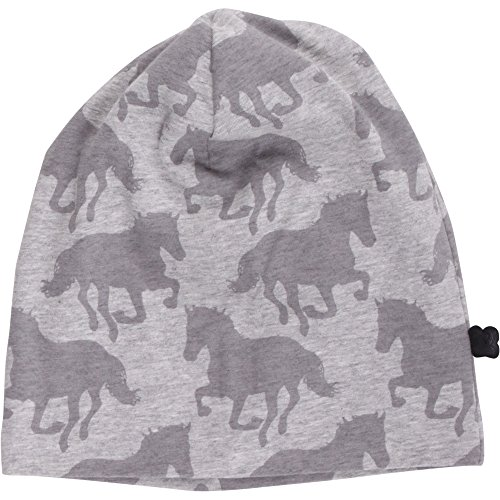 Fred'S World By Green Cotton Horse Beanie Bonnet, Gris (Pale Greymarl 207670000), Large (Taille Fabricant: 92/98) Bébé Fille