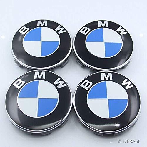 Searlleng 4 Piezas 68 mm Centro tapacubos para BMW – Aplicable a Todos los Modelos de BMW