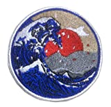 Antrix Anime Cartoon Comic Great Wave Off Sunrise Appliques Embroidered Emblems Stickers Patch for DIY Jackets Backpack T-Shirt Jeans Caps Hats