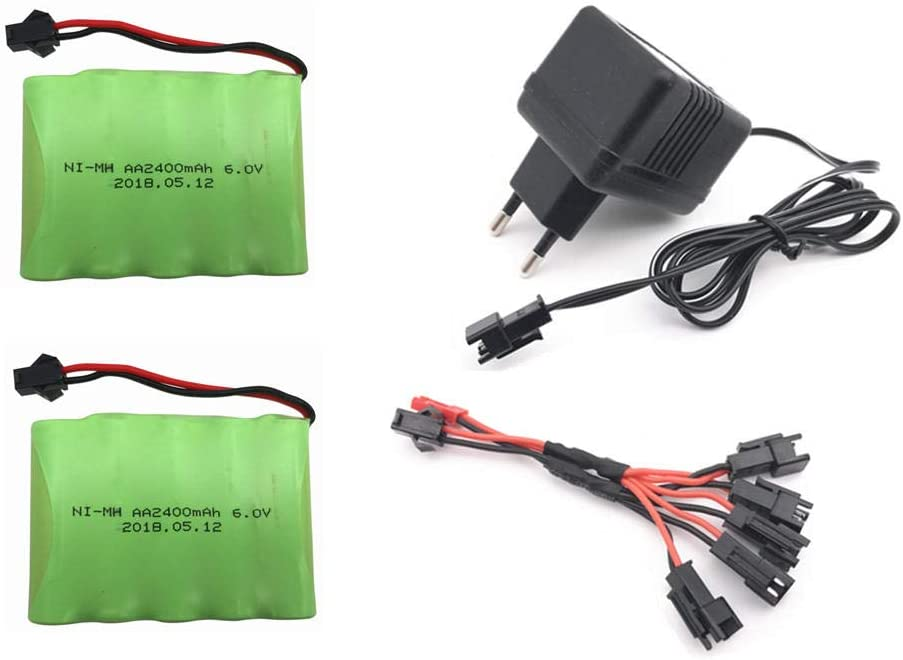 6V 2400mAh Free Shipping New AA Battery with Charger Electric Ba Toy High Fresno Mall Capacity