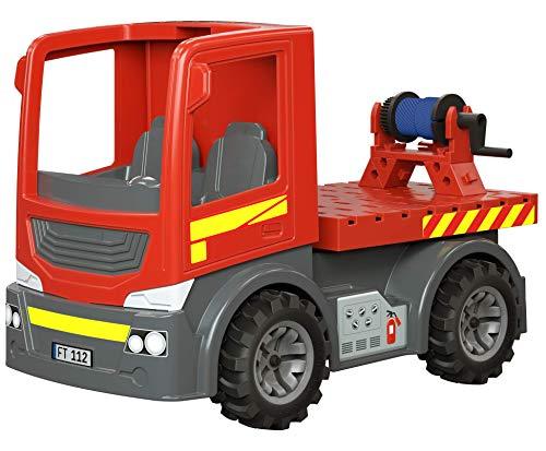 fischertechnik Easy Starter Fire Trucks - Feuerwehr Spielzeug ab 3 Jahren - das Lieblingsthema Feuerwehr für Zuhause aber auch im Außenbereich - 4 Modelle inklusive Drehleiter, Löschtank und Seilwinde