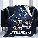 Beacon Hill Lacrosse Teen Wolf TV Show Merchandise Stilinski 24 Blanket Throw Soft Cozy Light Flannel Blankets for Quilt All Seasons Living Room Bed Sofa Blanket Deco Tapestry 50'x40' in