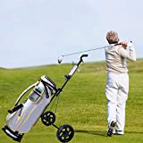 Belone Golf Push Cart Foldable, Golf Pull Cart with Scorecard Holder, Collapsible Pull Carts for Golf Clubs Practice and Game