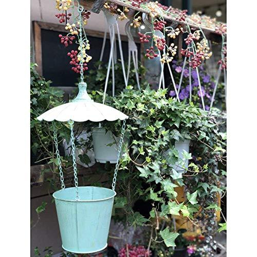 Maceta de Trofeo Alta Maceta Blanca Maceta de jardín al Aire Libre de hormigón en Relieve Creativo