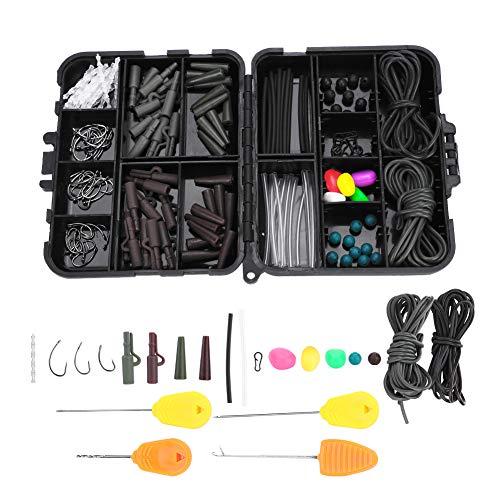 VGEBY Carp Fishing Tackle Kit Box, Fishing Box with Tubes Beads Pop Up Corn Pin Hook Net Bait Needle Carp Fishing Accessories(with Bait Needle)