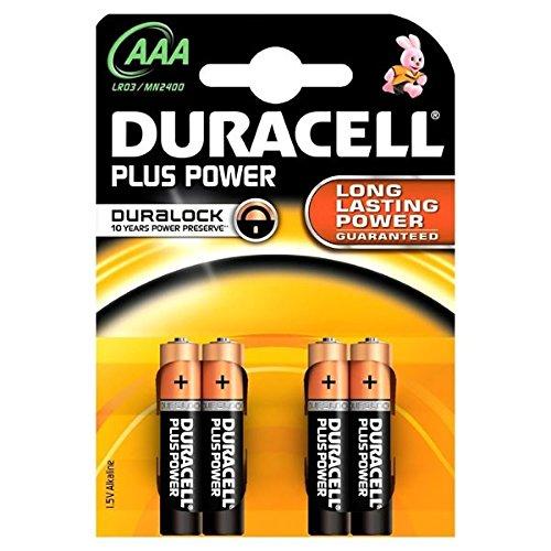 BATTERIA PILA MINI STILO 1,5 volt alkaline AAA stilo duracell confezione da 4 pile