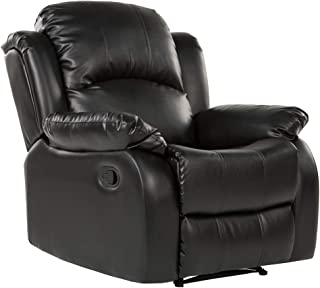 Bonded Leather Recliner Chair - Overstuffed